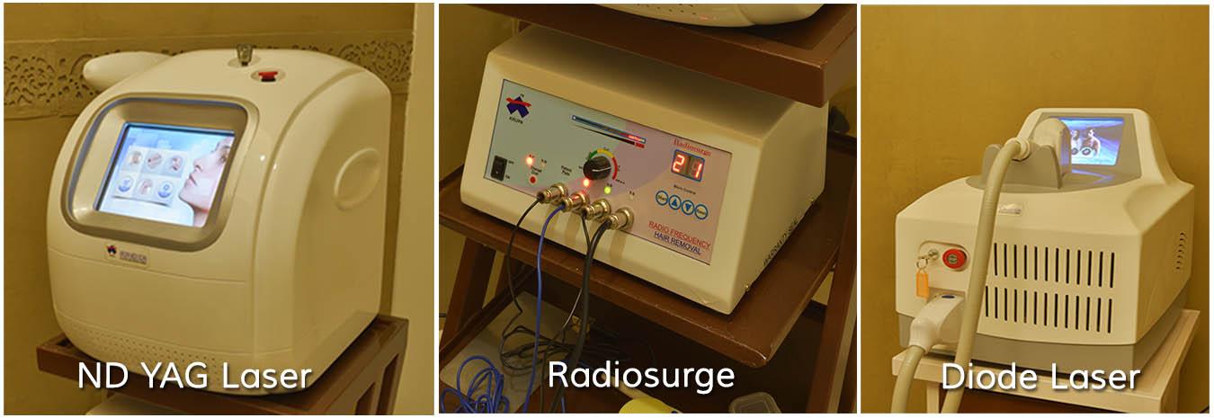 ND YAG Laser Radiosurge Diode Laser Cosmic Homeopathy Healing Centre